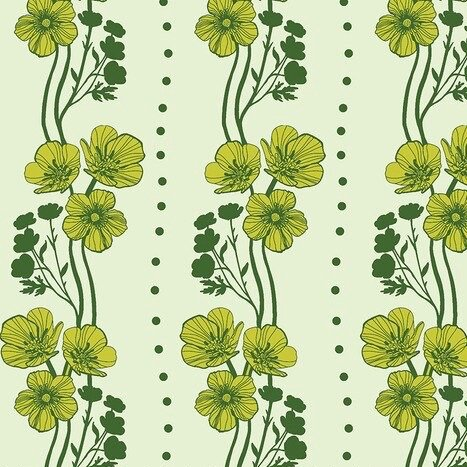 Anna Maria Horner Conservatory - Buttercups (Lime)
