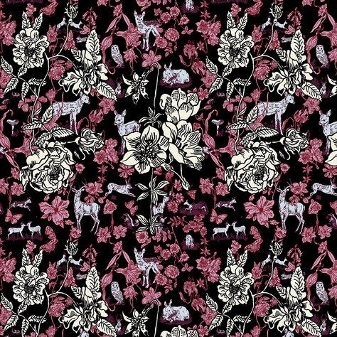 Nathalie Lete for Conservatory Woodland Walk - Fawn in Flowers (Black)