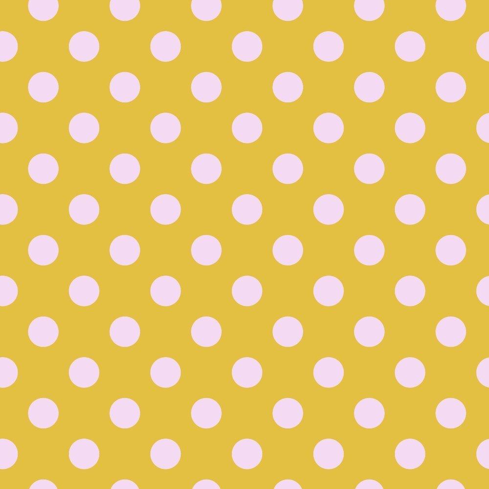 Tula Pink All Stars - Pom Poms (Marigold)