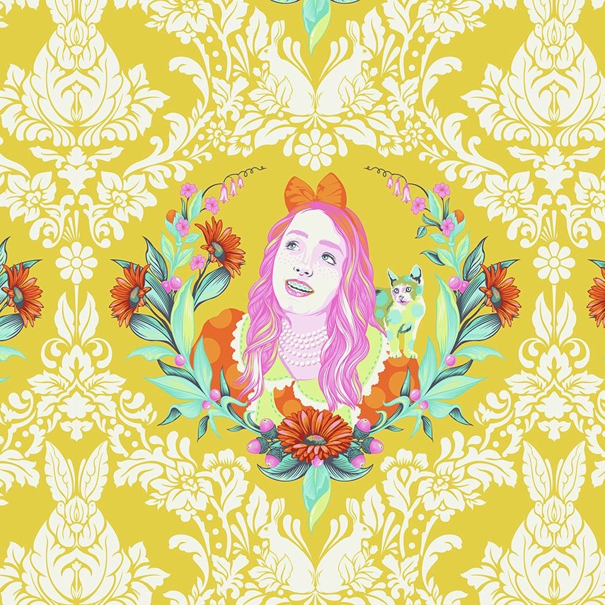 Tula Pink Curiouser and Curiouser - Alice (Sugar)