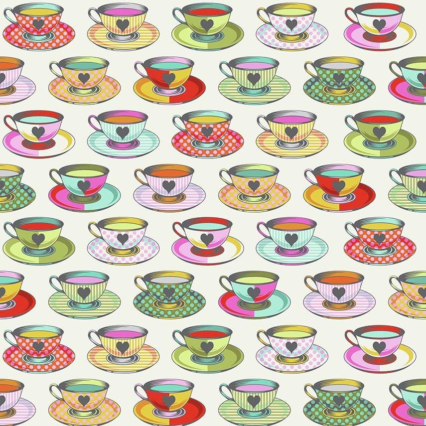 Tula Pink Curiouser and Curiouser - Tea Time (Sugar)