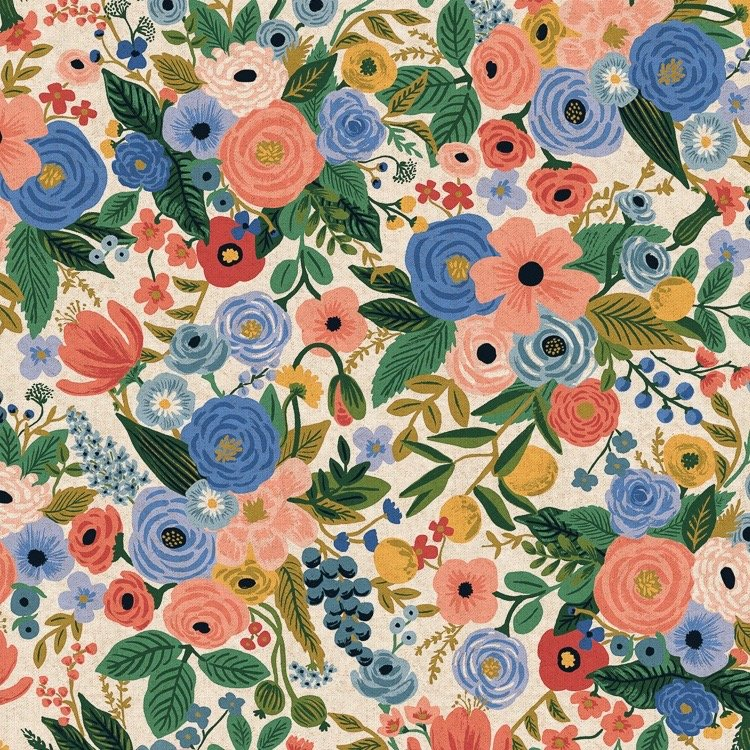 Rifle Paper Wildwood Canvas - Garden Party (Blue)