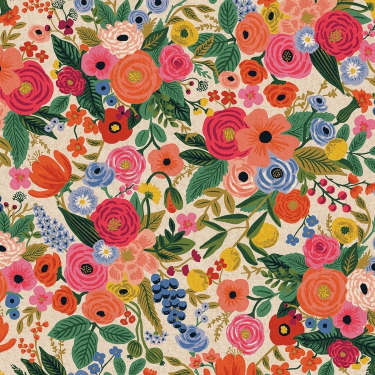 Rifle Paper Wildwood Canvas - Garden Party (Pink)