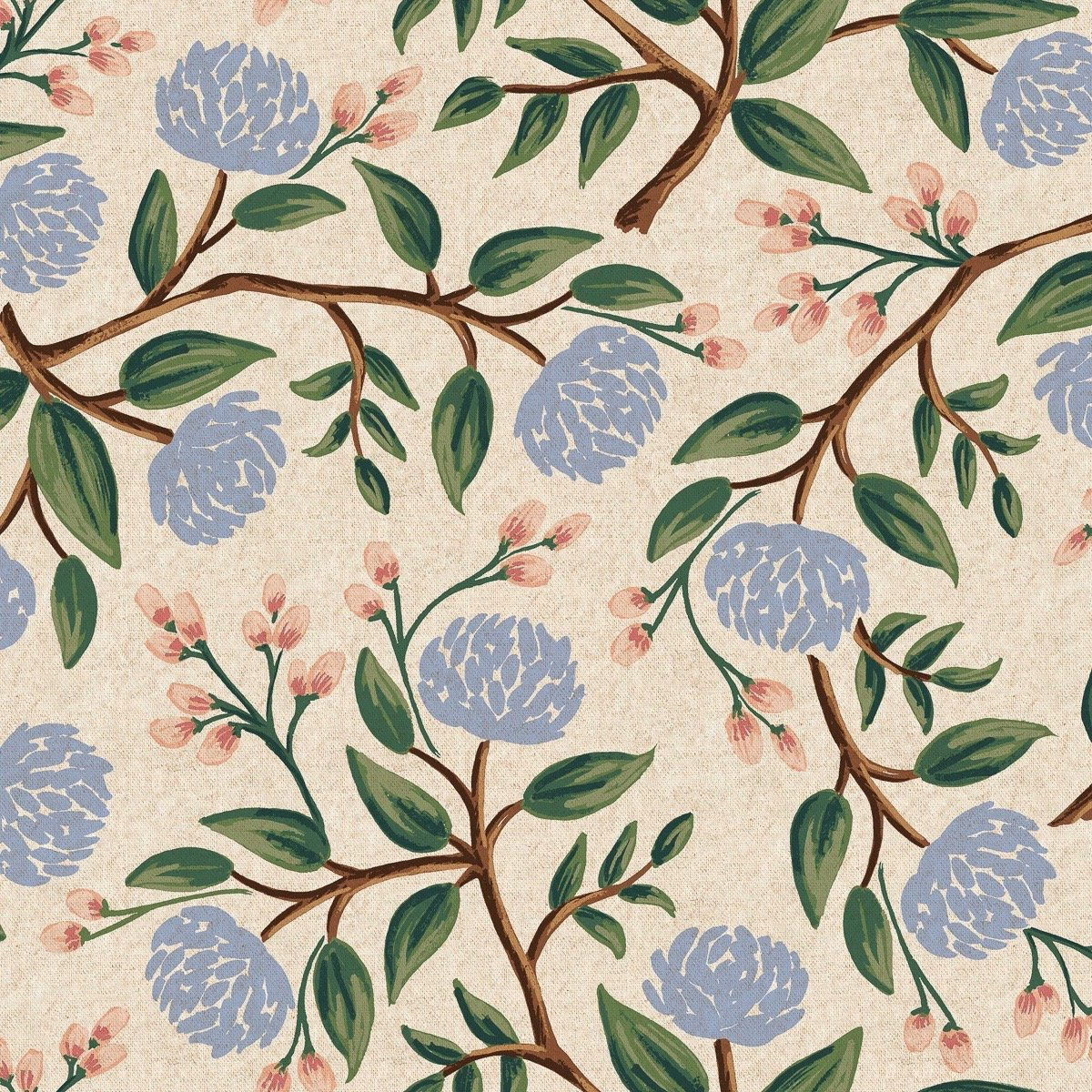 Rifle Paper Wildwood Canvas - Peonies (Cream)