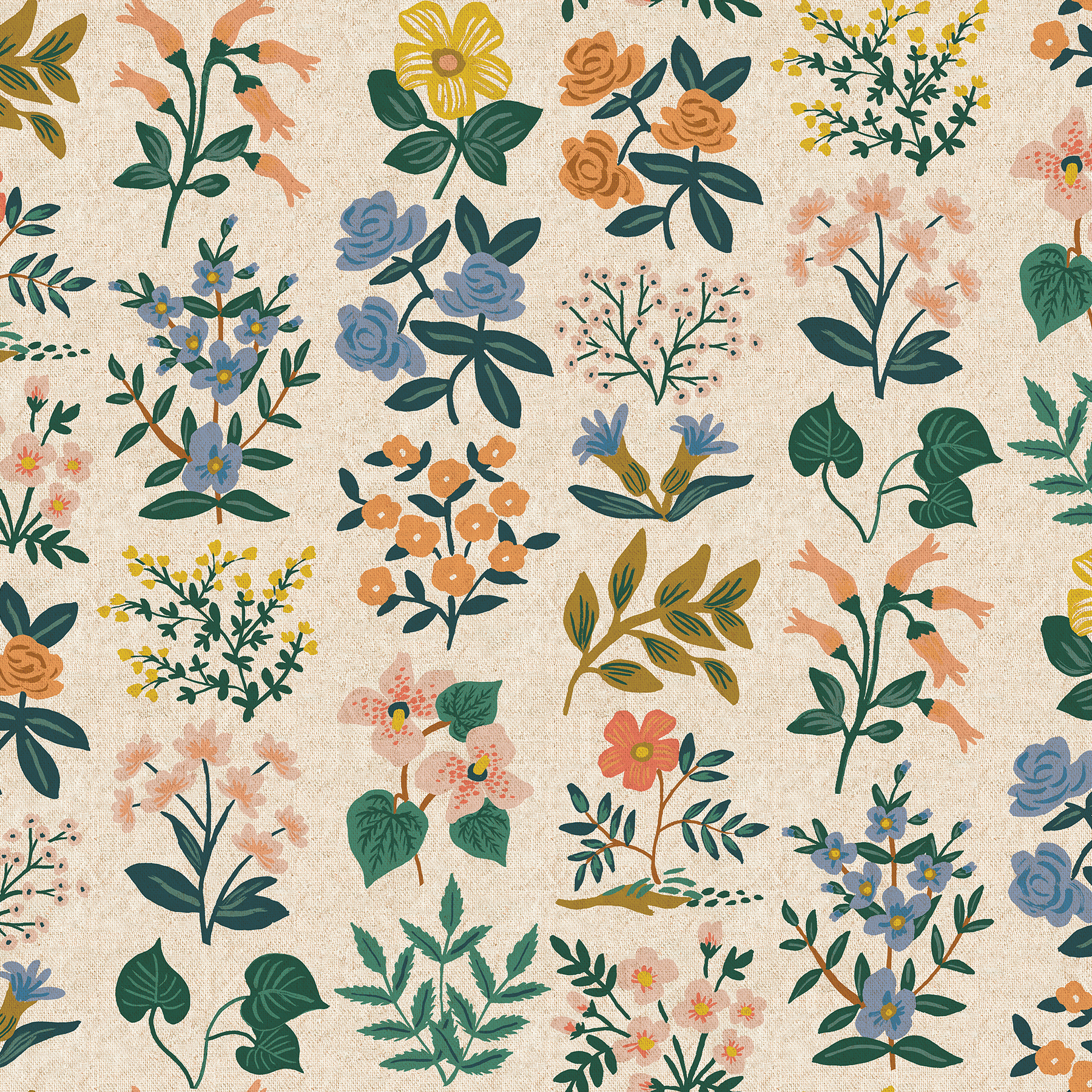 Rifle Paper Meadow Canvas - Wildflower Field (Natural)
