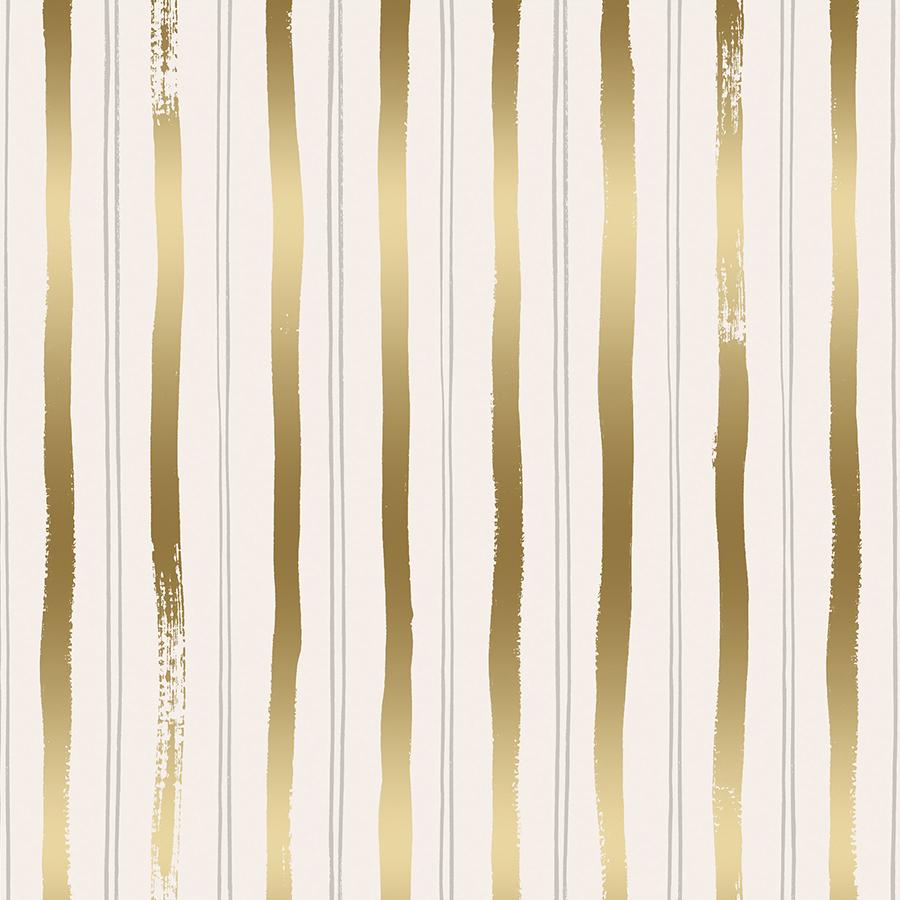 Rifle Paper Meadow - Stripes (Gold Metallic)