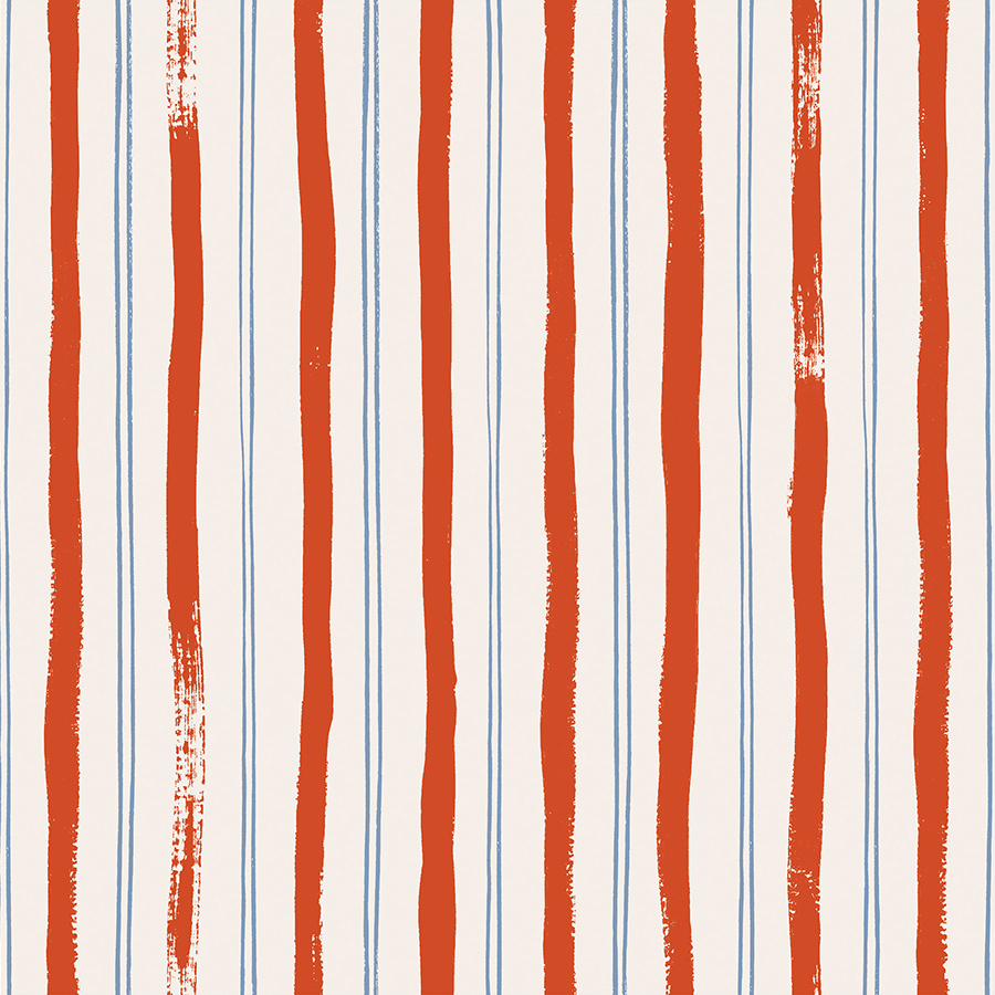 Rifle Paper Meadow - Stripes (Red)