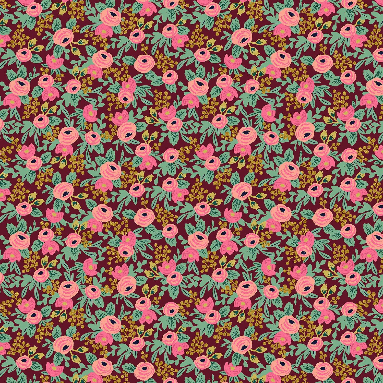 Rifle Paper Co Garden Party - Rosa Metallic (Burgundy)