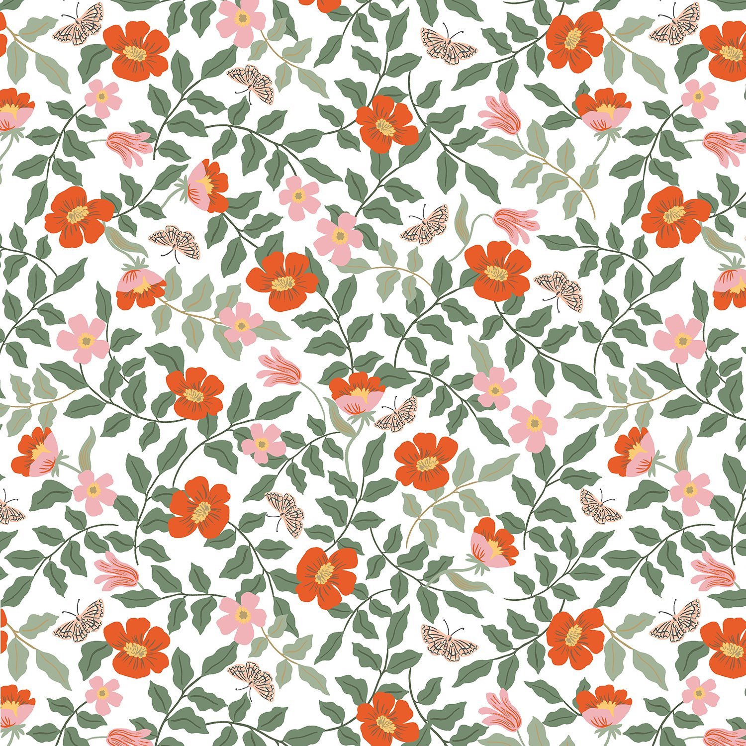 Rifle Paper Co Strawberry Fields - Primrose (Ivory)