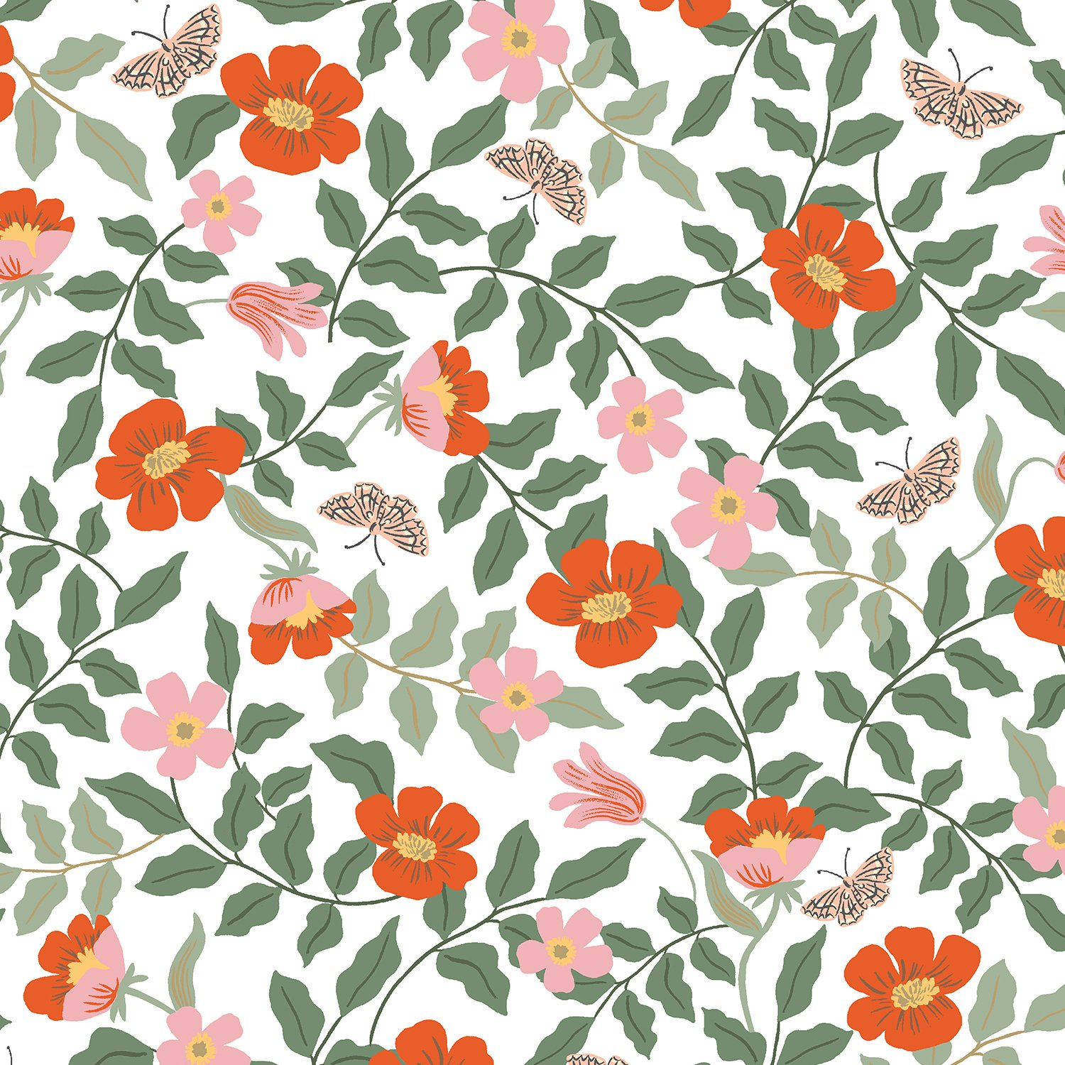 Rifle Paper Co Strawberry Fields - Primrose (Ivory Rayon)