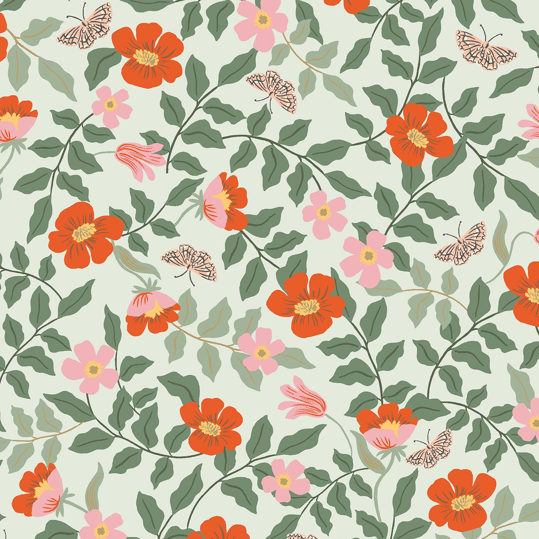 Rifle Paper Co Strawberry Fields - Primrose (Mint Rayon)