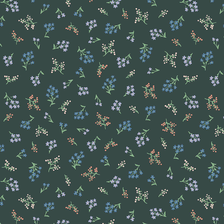 Rifle Paper Co Strawberry Fields - Petites Fleurs (Hunter)