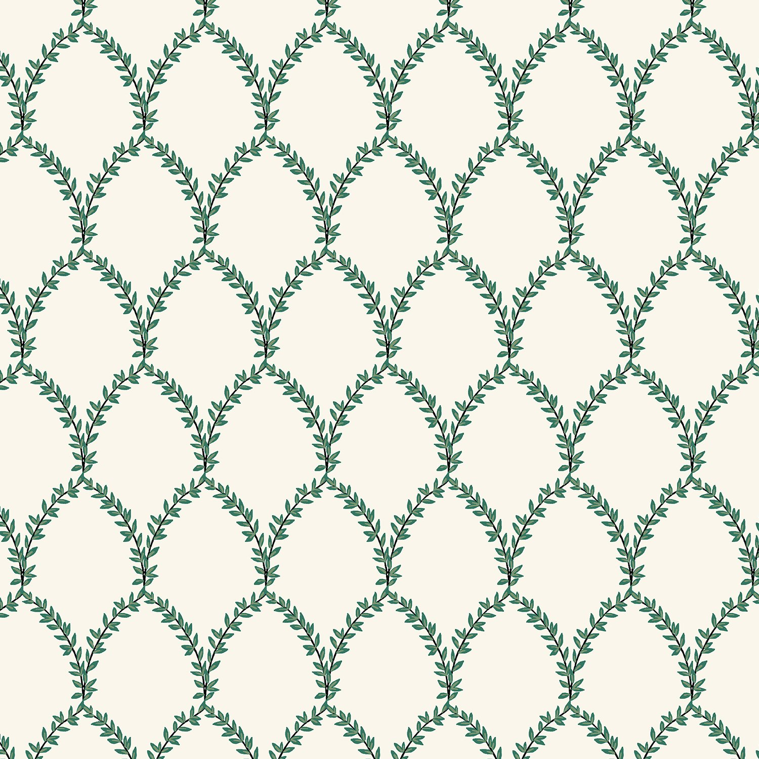 Rifle Paper Co Strawberry Fields - Laurel (Green and Cream)