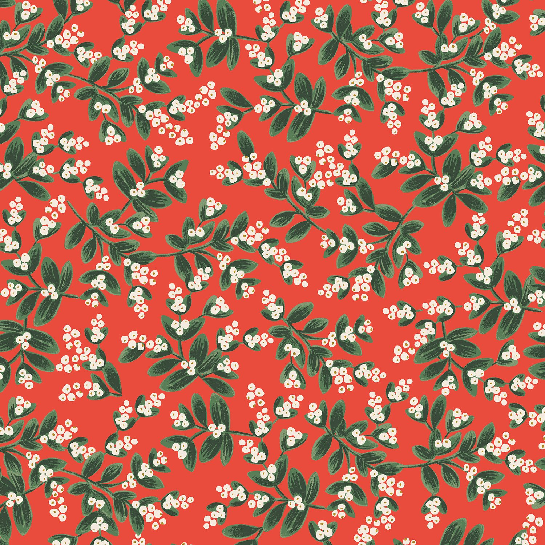 Rifle Paper Holiday Classics - Mistletoe Metallic (Red)