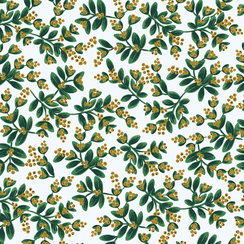Rifle Paper Holiday Classics - Mistletoe Metallic (White)