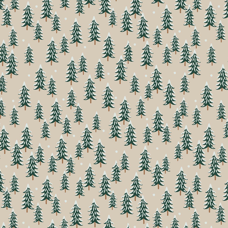 Rifle Paper Holiday Classics - Fir Trees (Linen)