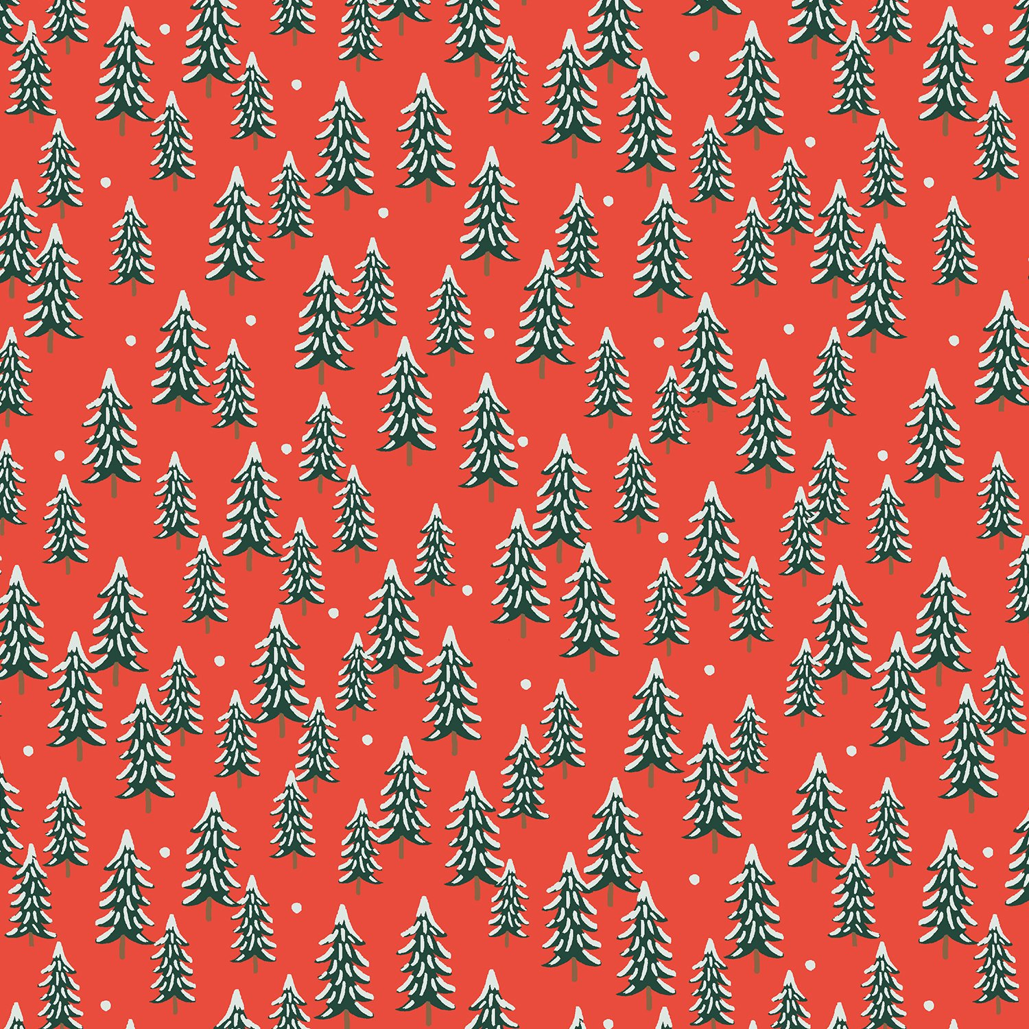 Rifle Paper Holiday Classics - Fir Trees (Red)