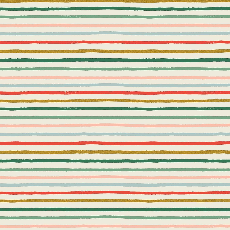 Rifle Paper Holiday Classics - Festive Stripe Metallic (Multi)