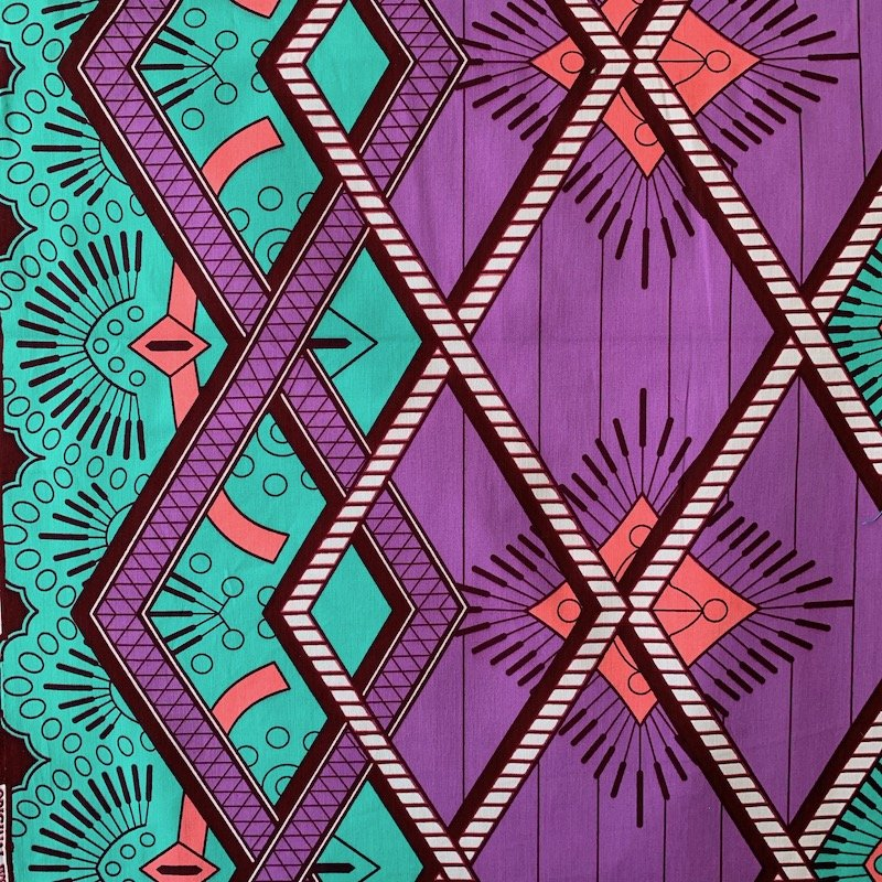 Three Yard Cut African Wax Block Fabric (Senegal)