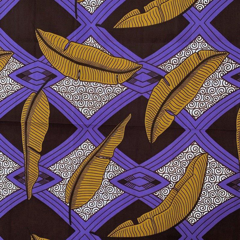 Three Yard Cut African Wax Block Fabric (Sierra Leone)
