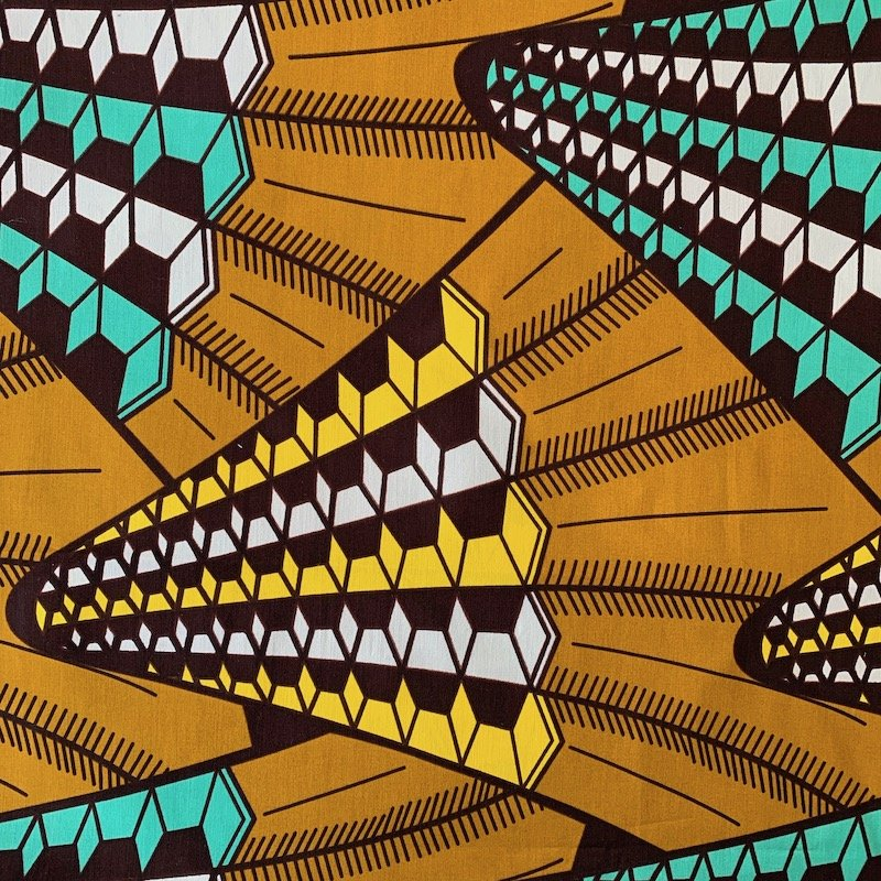 Three Yard Cut African Wax Block Fabric (Somalia)