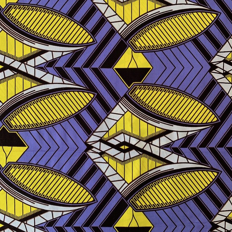 Three Yard Cut African Wax Block Fabric (South Sudan)