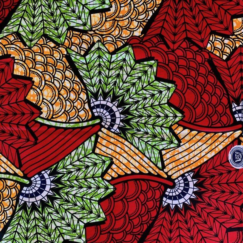 Three Yard Cut African Wax Block Fabric (Togo)