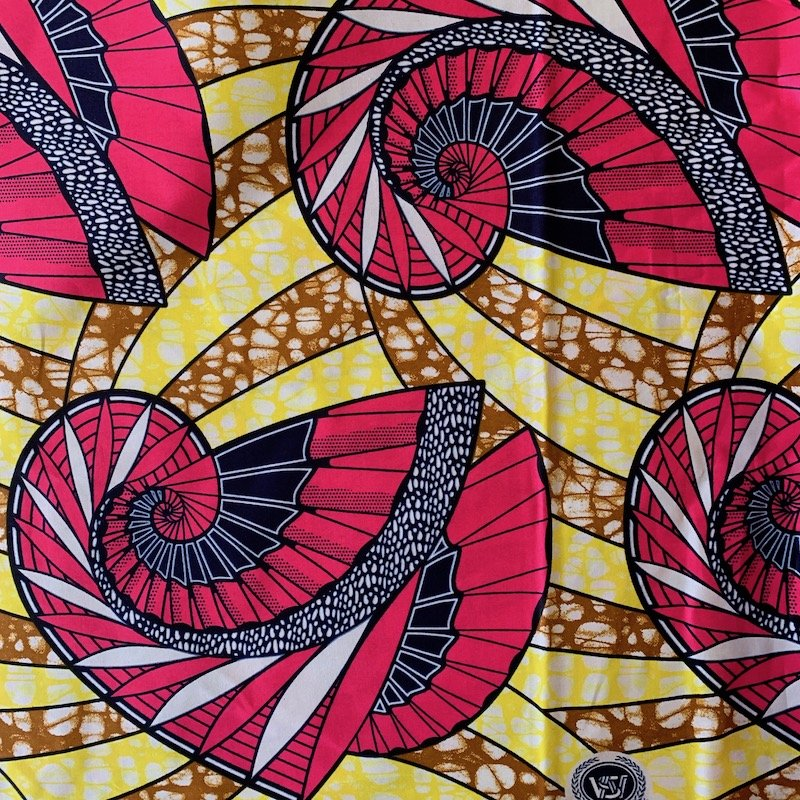 Three Yard Cut African Wax Block Fabric (Tunisia)