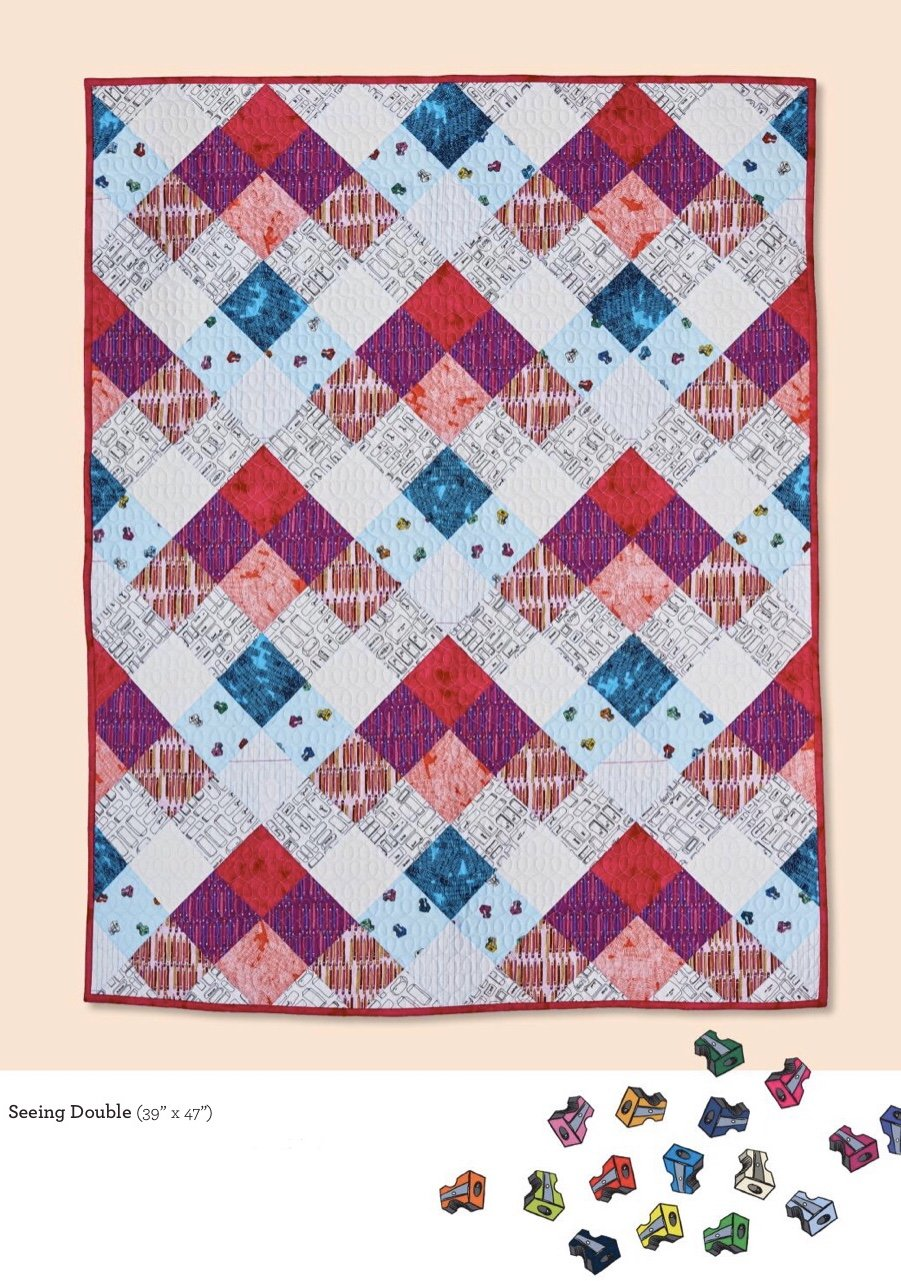 Pencil Club Seeing Double Crib Quilt Kit