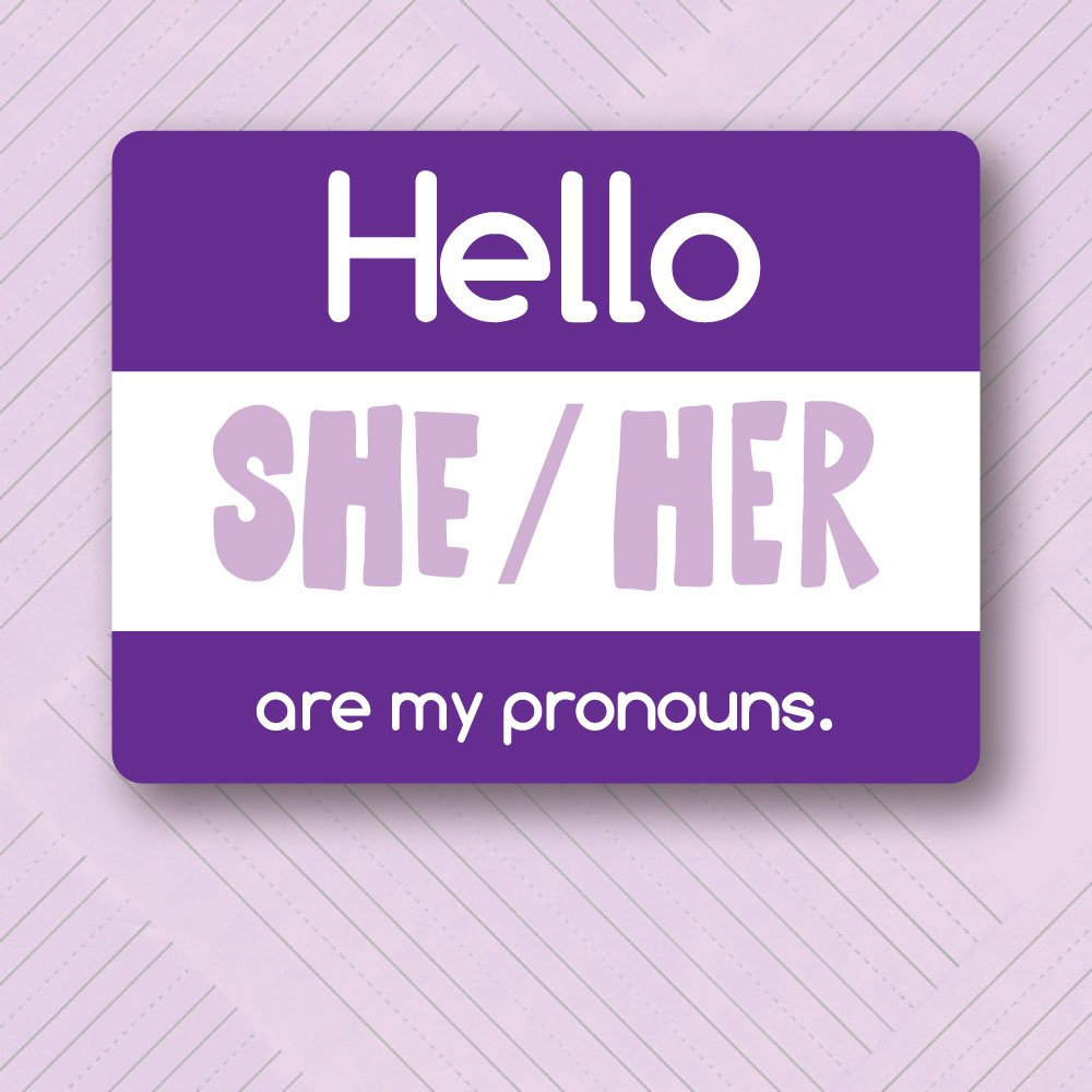 PRE-ORDER My Pronouns Pin - She/Her