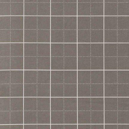 Robert Kaufman Framework Flannel - Grid (Grey)