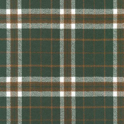 Robert Kaufman Mammoth Flannel - Plaid (Oregano)