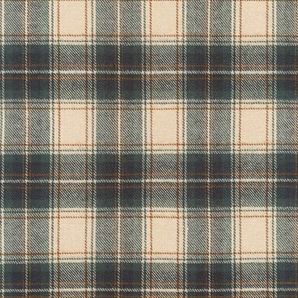 Robert Kaufman Tahoe Flannel - Plaid (Desert Green)