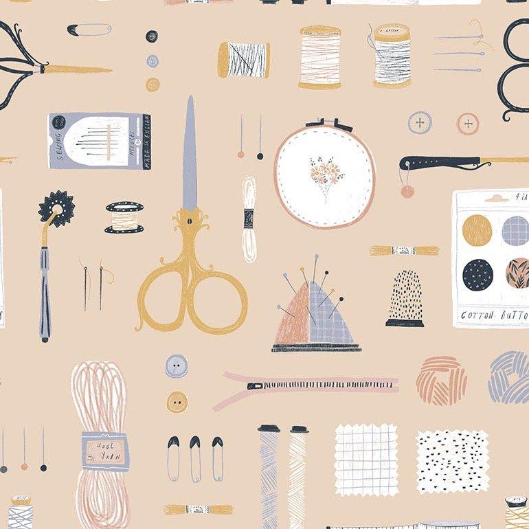 Dear Stella Sew On & Sew Forth - Marzipan (Tan)