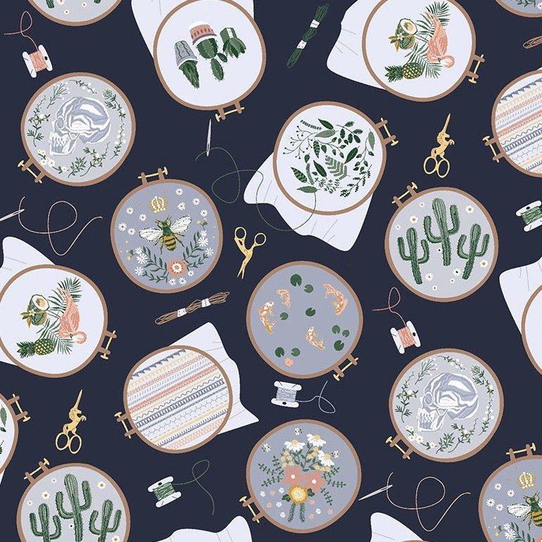Dear Stella Embroidery Hoops - Patriot (Blue)