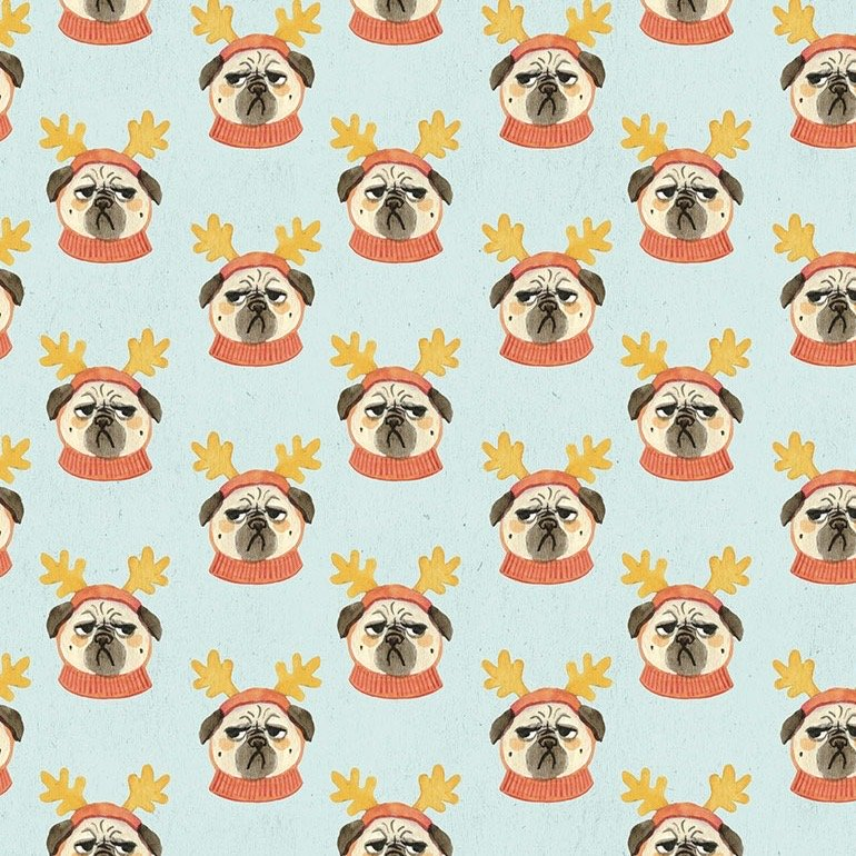 Dear Stella Bah Hum-Pug - Pug Life (Multi)