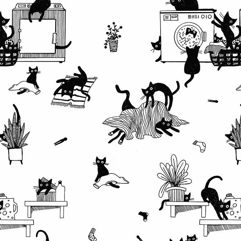 Dear Stella Les Chats Noirs - Les Chats Noirs (White)