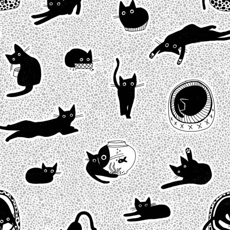 Dear Stella Les Chats Noirs - Chillin (White)