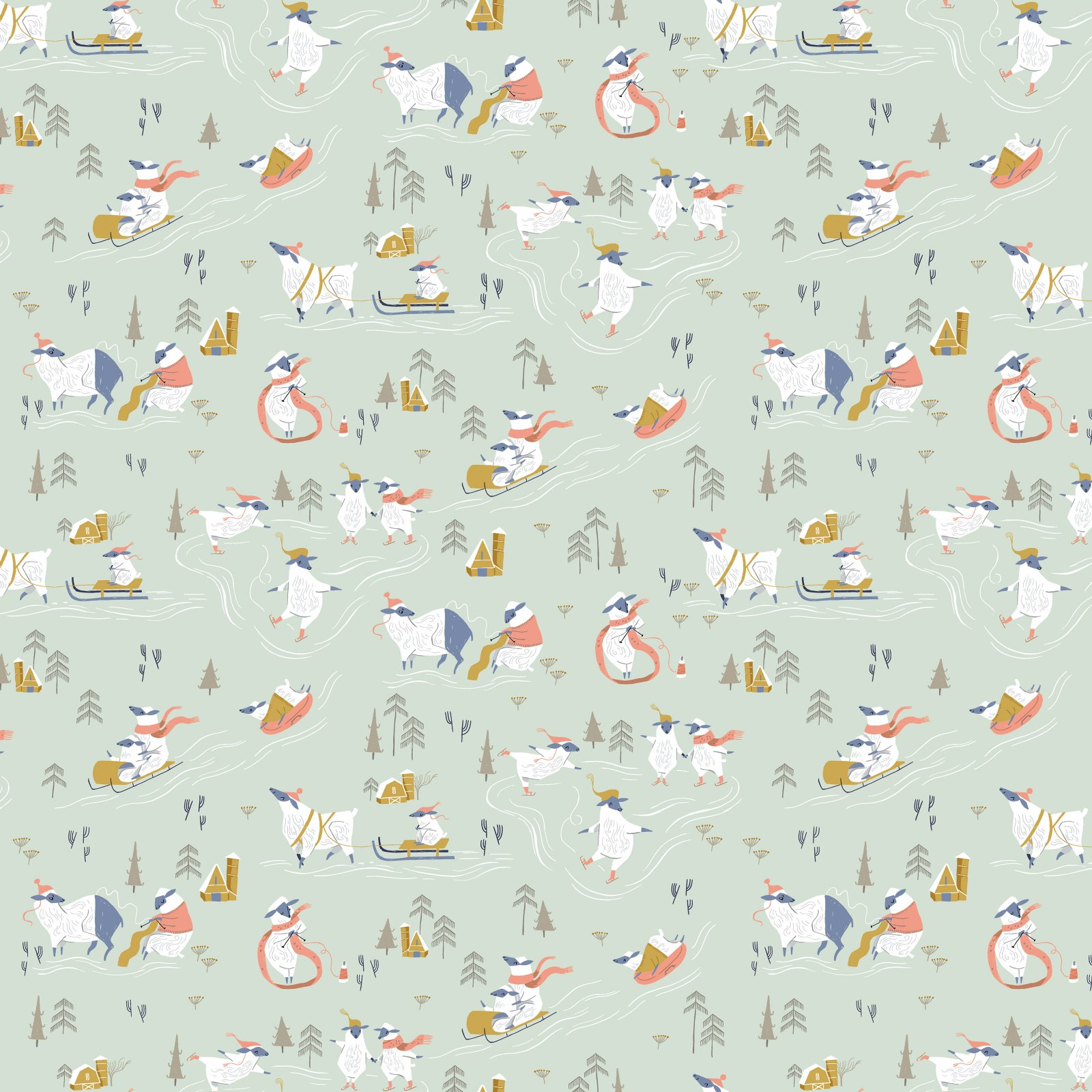 Rae Ritchie Sheepish - Snow Day (Misty)