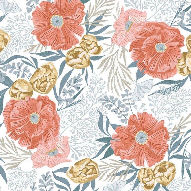 Dear Stella Poppy Prairie - Poppies (White)