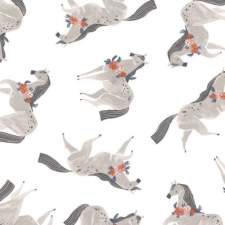 Dear Stella Poppy Prairie - Ponies (White)