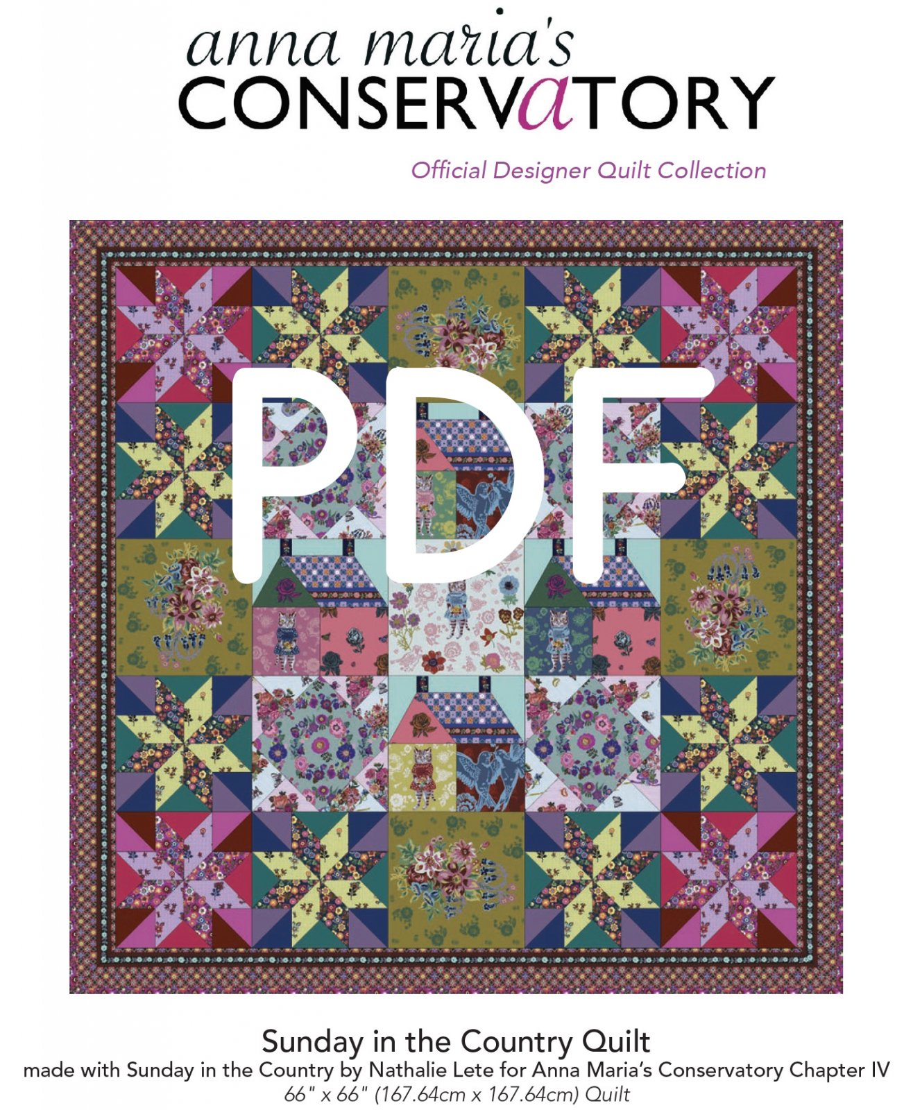 Sunday in the Country Quilt Pattern (PDF Download)