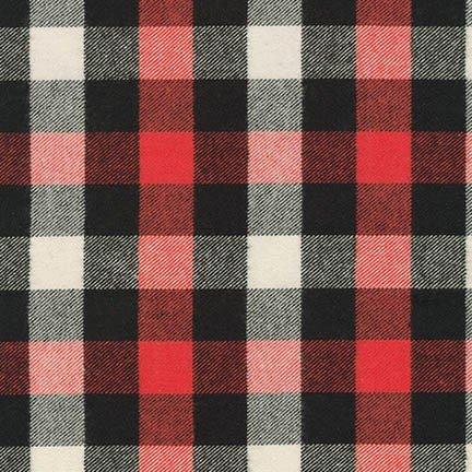 Robert Kaufman Tahoe Flannel (Red)