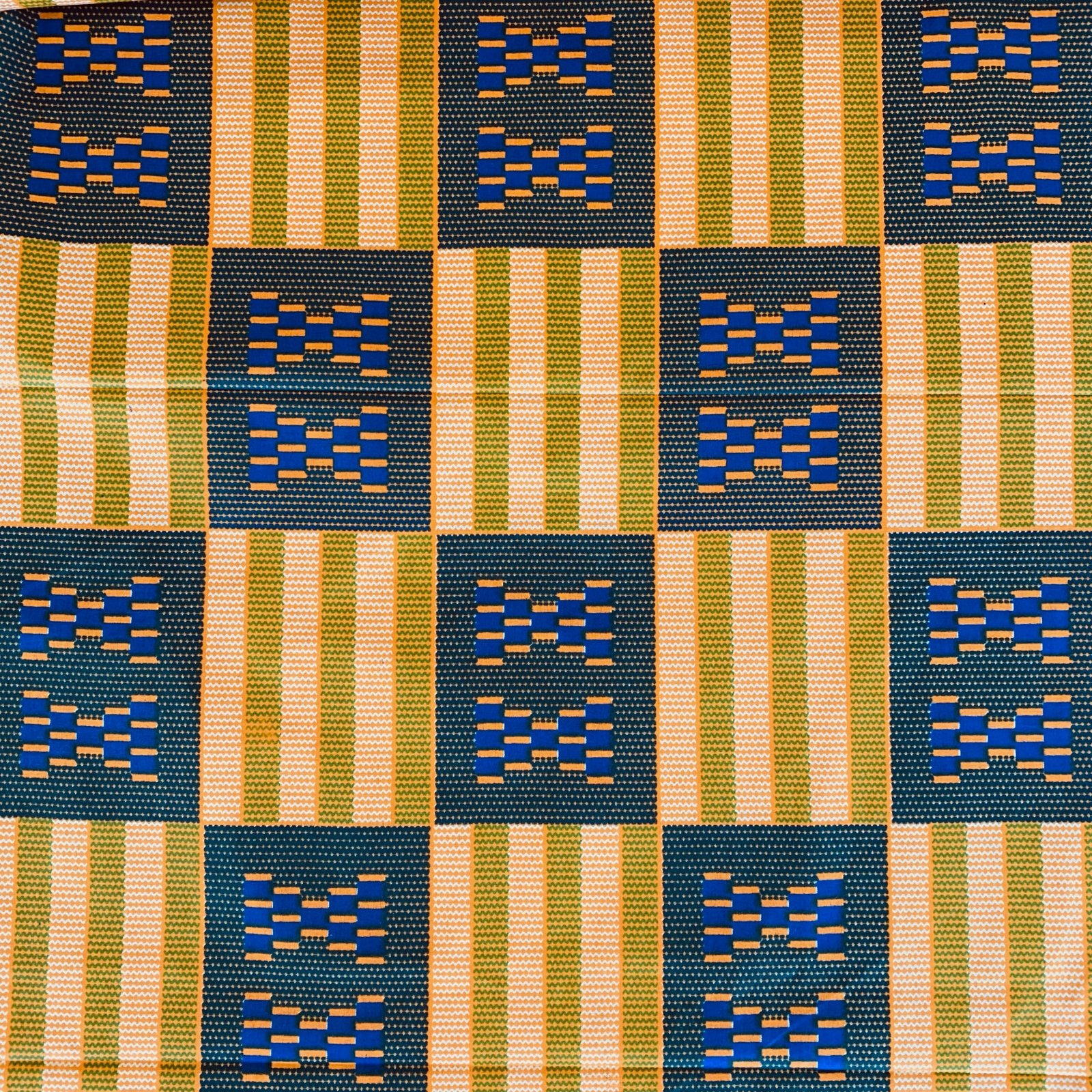Three Yard Cut African Wax Block Fabric (Zimbabwe)