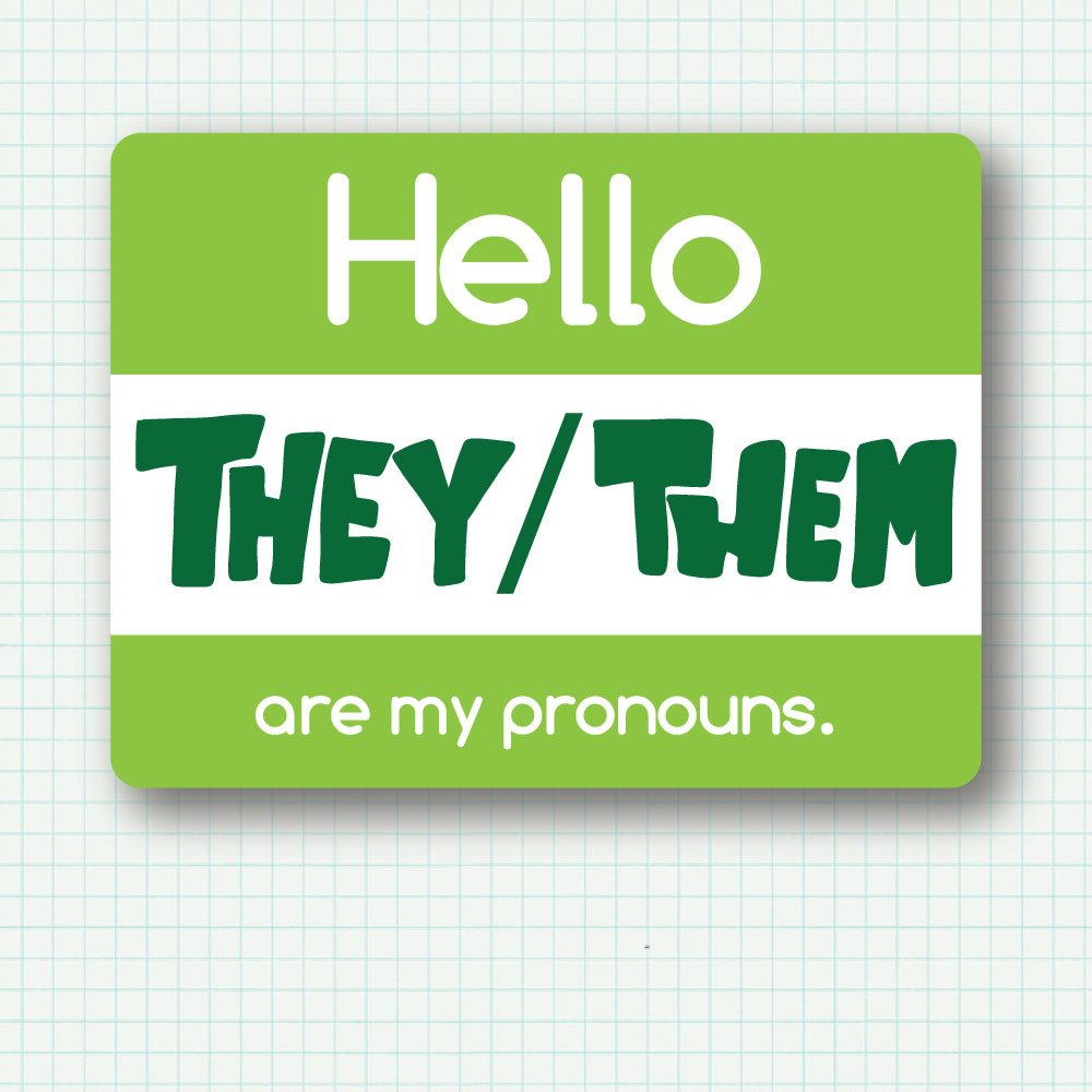 PRE-ORDER My Pronouns Pin - They/Them