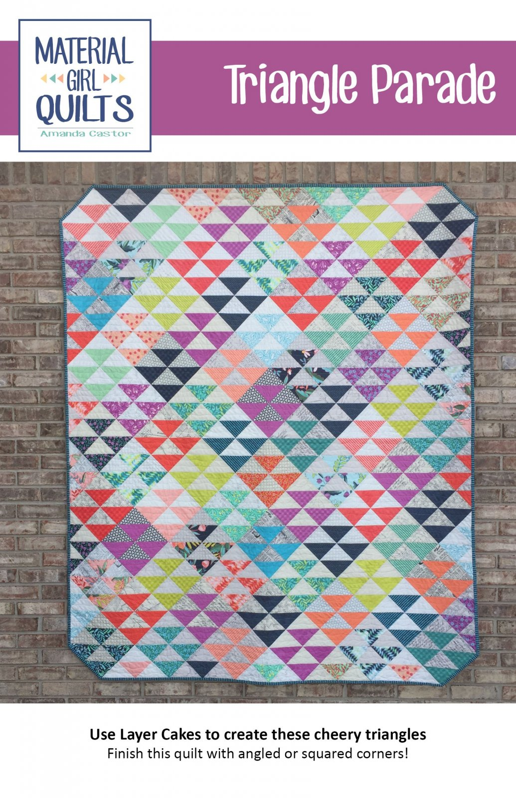 Triangle Parade Pattern by Material Girl Quilts