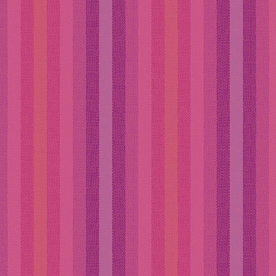 Alison Glass Kaleidoscope - Stripes and Plaids (Magenta Stripes)