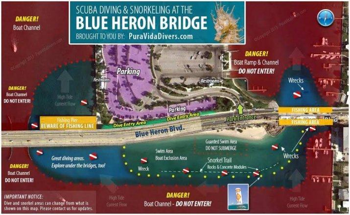 Blue Heron Bridge Map