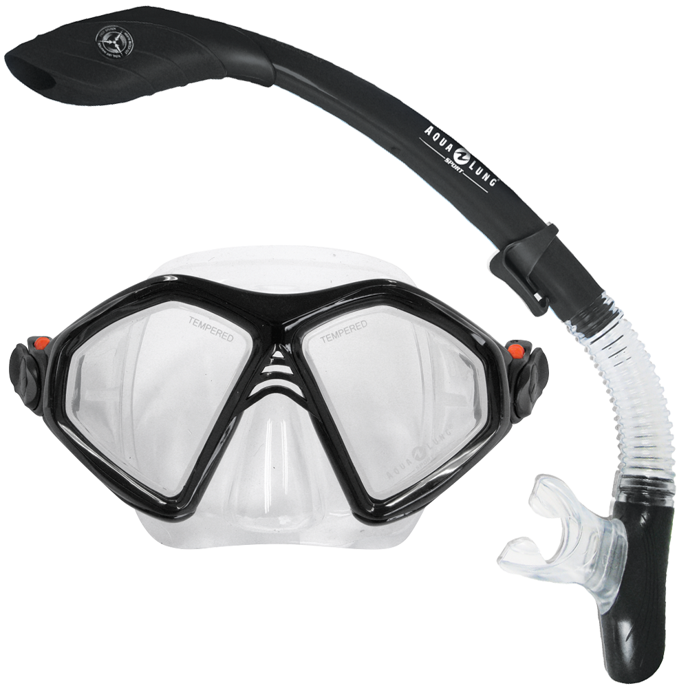 Admiral Mask and Dry Snorkel Set