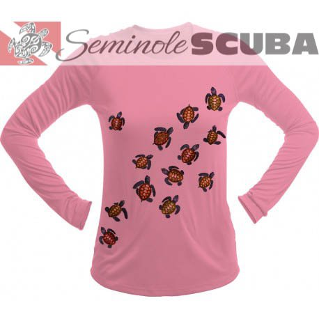 SeaFear Baby Turtle L/S Women's Performance Tee